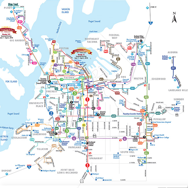 System Map Pierce Transit