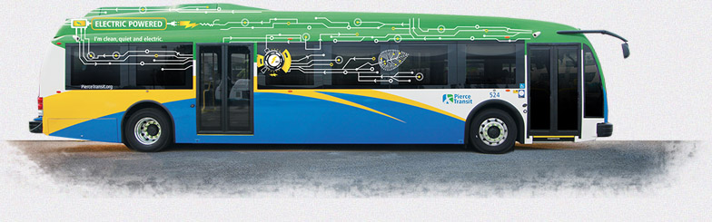 electric bus charging ahead