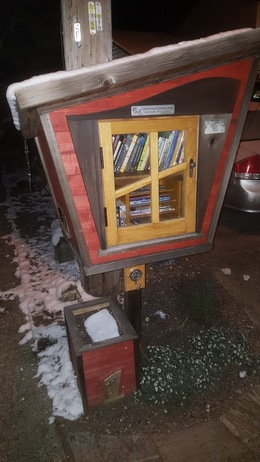 Snow Covered Little Free Library