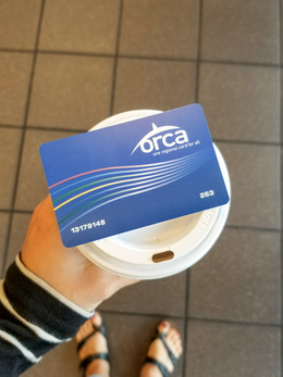 Orca Card on Coffee