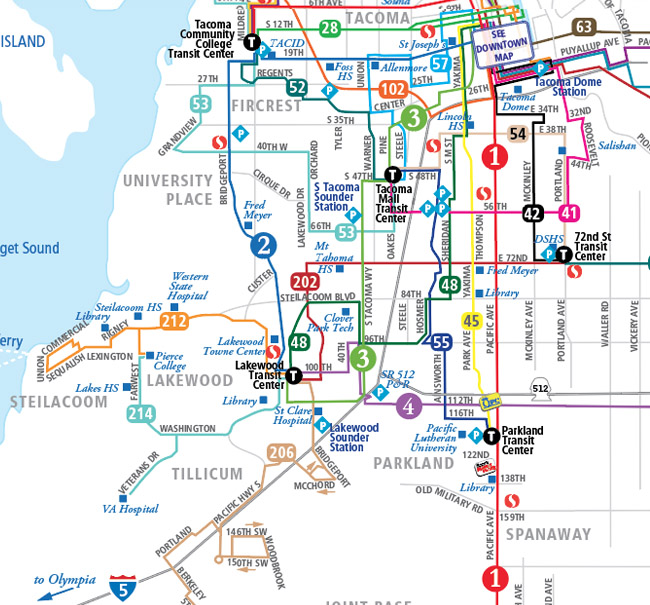 System Map Southwest Pierce Transit - Transit map