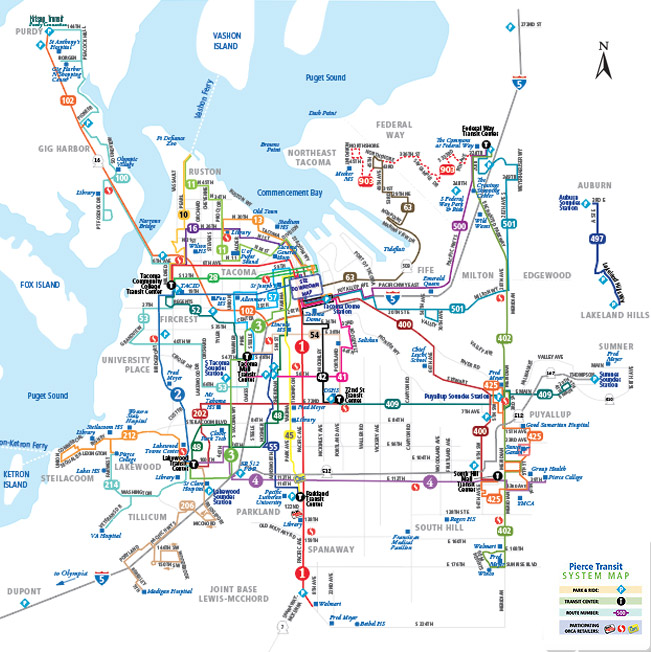 System Map Pierce Transit - Transit map