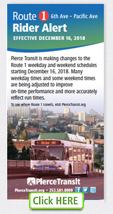 Route 1 Schedule change