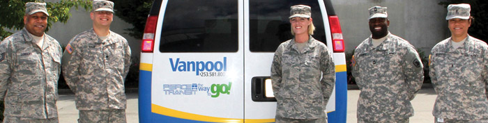 The Value of Transit Military in front of vanpool
