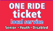 Senior/Youth/Disabled One Ride Tickets